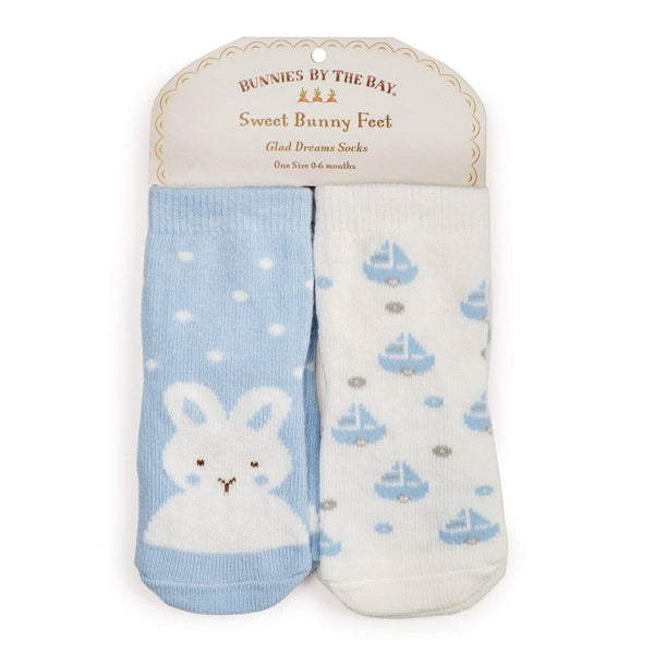 Best Friends Socks - 2 pair Socks Bunnies by the Bay - Oma's Classic Children's Clothing