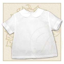 Boy White Short Sleeve Shirt Shirt Rosalina - Oma's Classic Children's Clothing
