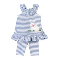 Cottontail Collection-Capri Leg Set Girl Sets Bailey Boys - Oma's Classic Children's Clothing
