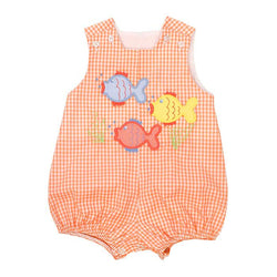 Fish Friends -Short Infant Bubble Bubble Bailey Boys - Oma's Classic Children's Clothing