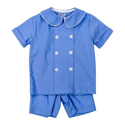 Cascade Blue Collection-Dressy Short Set Boy Sets Bailey Boys - Oma's Classic Children's Clothing