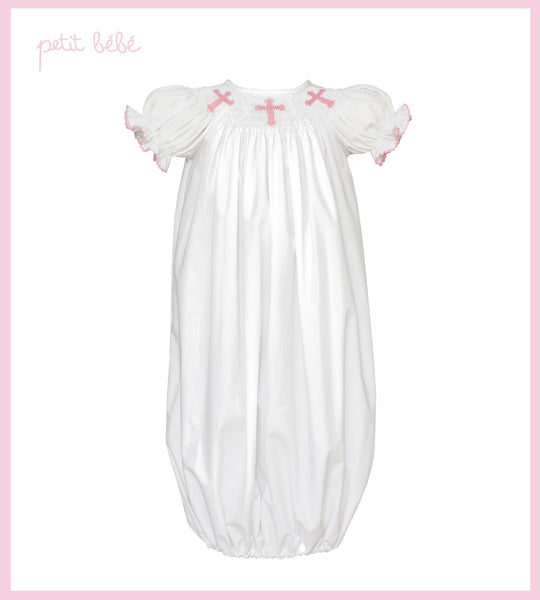 Crosses Gown Gowns Petit Bebe - Oma's Classic Children's Clothing