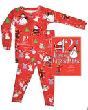 12 Days of Christmas Girls Long John w/Book Sleepwear Books to Bed - Oma's Classic Children's Clothing