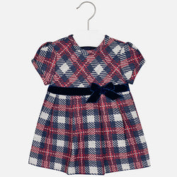 Plaid Short Sleeve Dress