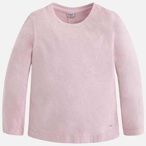 Embellished Pale Pink Shirt Shirt Mayoral - Oma's Classic Children's Clothing