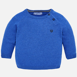 Baby Boy Basic Sweater with Shoulder Opening Outerwear Mayoral - Oma's Classic Children's Clothing
