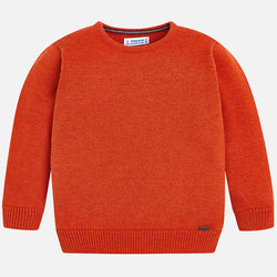 Basic Sweater w/ Round Neckline Outerwear Mayoral - Oma's Classic Children's Clothing