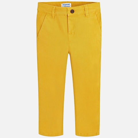 Gold Basic Twill Chino Trousers Slim Fit Pants Mayoral - Oma's Classic Children's Clothing