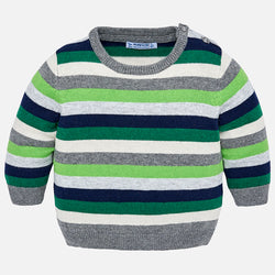 Biogreen Striped Sweater Outerwear Mayoral - Oma's Classic Children's Clothing