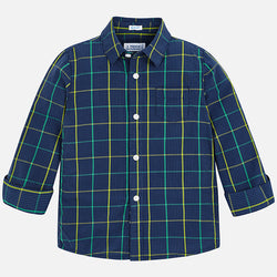 Double Checked Long Sleeved Shirt Shirt Mayoral - Oma's Classic Children's Clothing