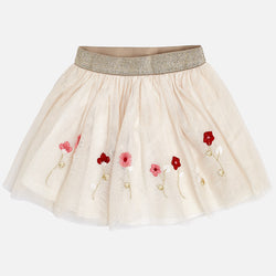 Embroidered Tulle Skirt Skirt Mayoral - Oma's Classic Children's Clothing