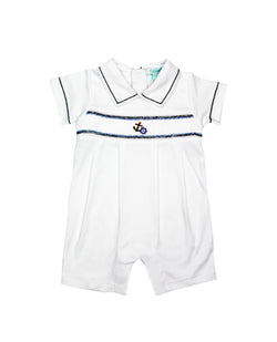 Nautical Pima Cotton Short Playsuit