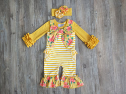 October Sky Bow Romper w/ Icing top