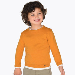 Caramel Basic Sweater Outerwear Mayoral - Oma's Classic Children's Clothing