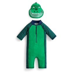 Boys' Dinosaur Sun Protection Suit Set Swimwear JoJo Maman BeBe - Oma's Classic Children's Clothing