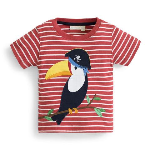 Boys' Toucan Applique Tee Shirt JoJo Maman BeBe - Oma's Classic Children's Clothing