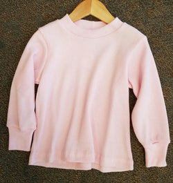 Pink Long Sleeve Thermal Tee Tee Bonnie's Sportswear - Oma's Classic Children's Clothing