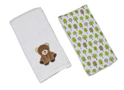 Cocoa the Bear Single Burp Cloth Bibs & Burps Maison Chic - Oma's Classic Children's Clothing