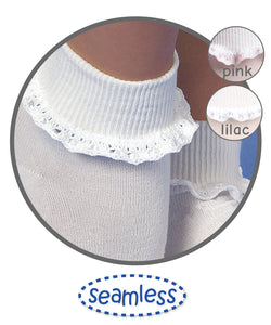 Cluny And Satin Lace Socks Socks Jefferies Socks - Oma's Classic Children's Clothing