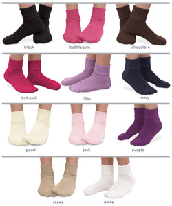 Cotton Socks with Ankle Cuff Socks Jefferies Socks - Oma's Classic Children's Clothing