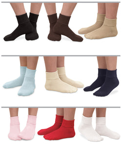 Cotton Socks with Ankle Cuff and Grips Socks Jefferies Socks - Oma's Classic Children's Clothing