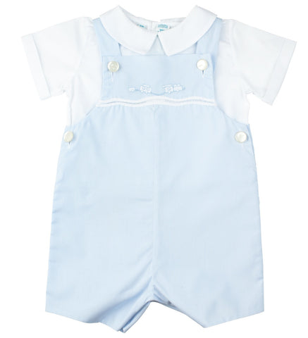 2-Piece Train Shortall Shortall Feltman Brothers - Oma's Classic Children's Clothing
