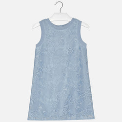 Dress with Embroidered Tulle Dress Mayoral - Oma's Classic Children's Clothing