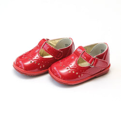 Birdie Patent Leather T-Strap Stitched Mary Jane Shoes Angel Baby Shoe - Oma's Classic Children's Clothing