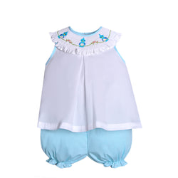 Seafoam Bird Sitting Bloomer Set