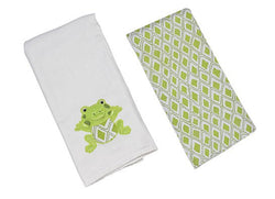 Freckles the Frog Double Burp Cloth Gift Set Bibs & Burps Maison Chic - Oma's Classic Children's Clothing