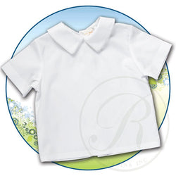 White Pointed Collar Boy Shirt Shirt Rosalina - Oma's Classic Children's Clothing