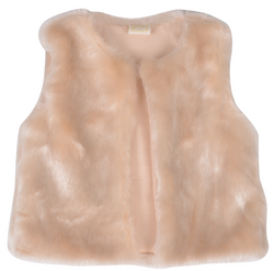 Cream Faux Fur Vest Outerwear Jusbe Kid - Oma's Classic Children's Clothing