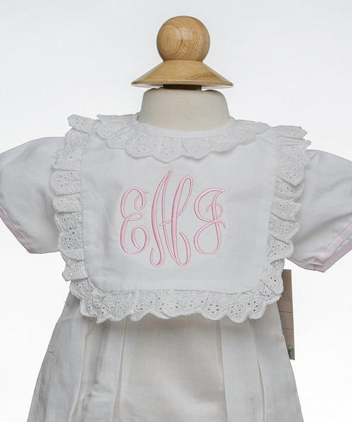 Eyelet Lace Baby Bib Bibs & Burps The Oaks - Oma's Classic Children's Clothing