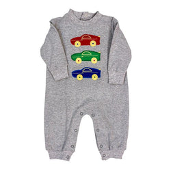 Wild Racecars Collection-Boys Knit Romper