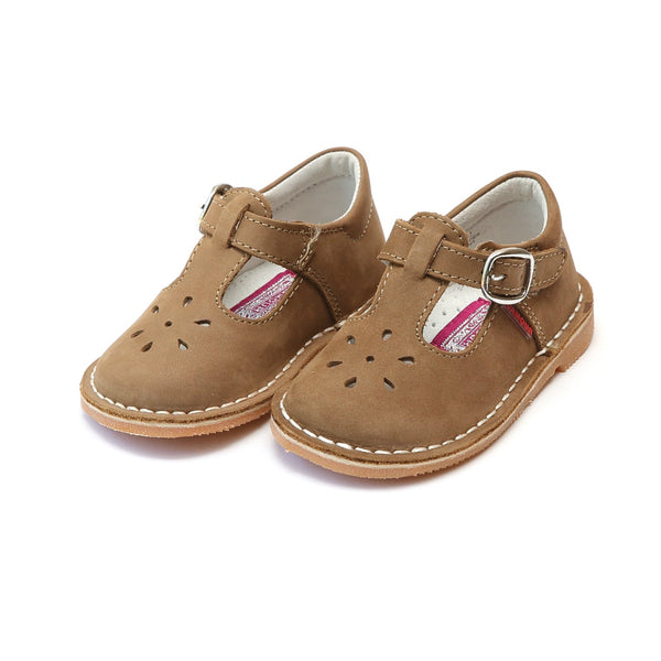Joy Leather Stitch Down T-Strap Mary Jane Shoe L'Amour - Oma's Classic Children's Clothing