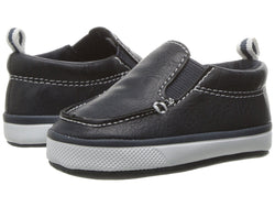 Navy Slip On with Elastic Gore