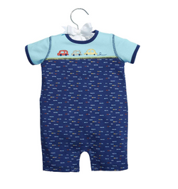"Baby Dumpling™ ""Beep Beep"" Boy Romper Romper C. R. Gibson - Oma's Classic Children's Clothing"