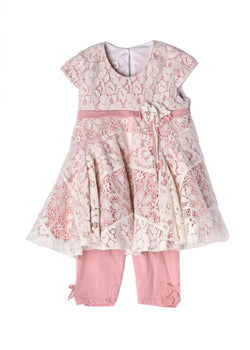 Blushing Petals 2pc Set Girl Sets Isobella and Chloe - Oma's Classic Children's Clothing