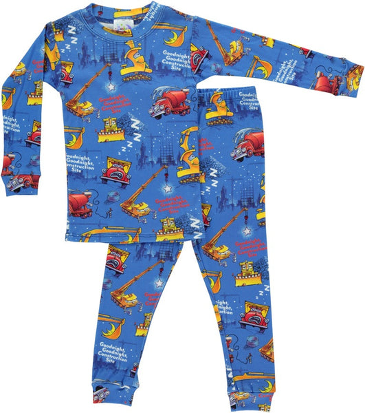 Goodnight Construction Site Boys Long John w/Book Sleepwear Books to Bed - Oma's Classic Children's Clothing