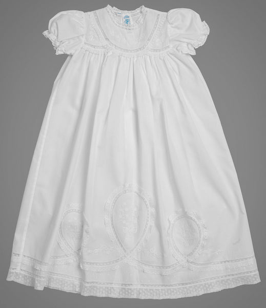 Girls Lacy Yoke Special Occasion Set Gowns Feltman Brothers - Oma's Classic Children's Clothing