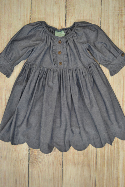 Charlotte Chambray Dress Dress Sage & Lilly - Oma's Classic Children's Clothing