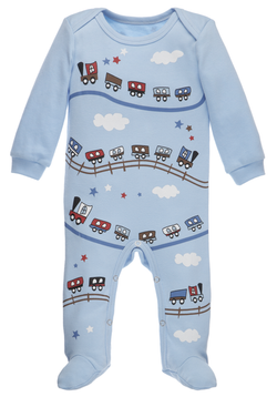 A Little Behind Sleeper - Caboose Bodysuits GANZ - Oma's Classic Children's Clothing