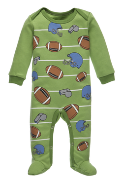 A Little Behind Sleeper - End Zone Bodysuits GANZ - Oma's Classic Children's Clothing