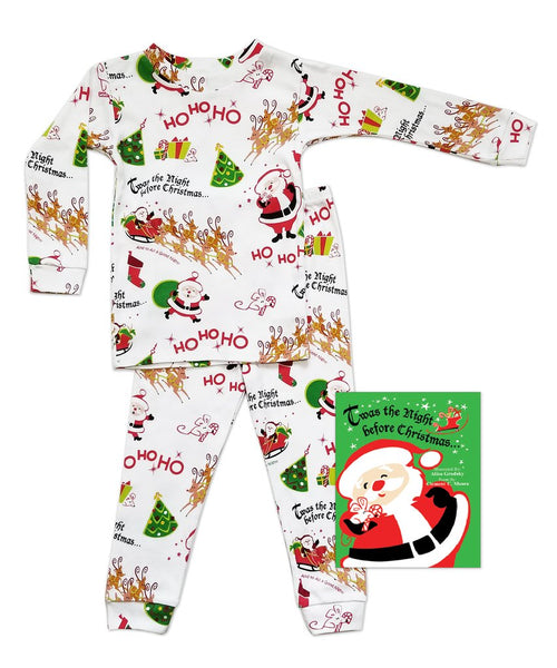 Twas the Night Before Christmas PJ and Book Set