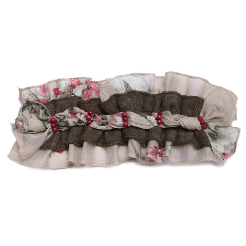 Four Seasons Green Elastic Headband Hair Accessories Isobella and Chloe - Oma's Classic Children's Clothing