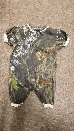 Mossy  Oak Shorts Romper Romper Bonnie's Sportswear - Oma's Classic Children's Clothing