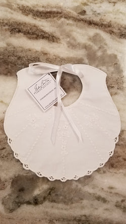 Eduardian Hand Embroidered Bib Bibs & Burps Boutross - Oma's Classic Children's Clothing