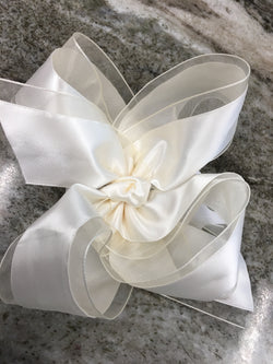 "Organza & Satin 6.5"" Bow"