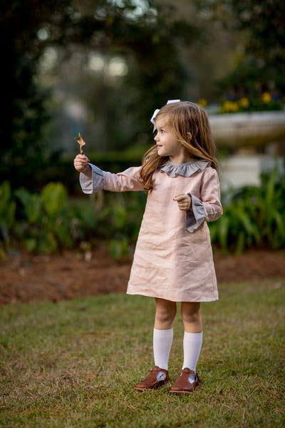 Addy Blush Dress Dress The Oaks - Oma's Classic Children's Clothing