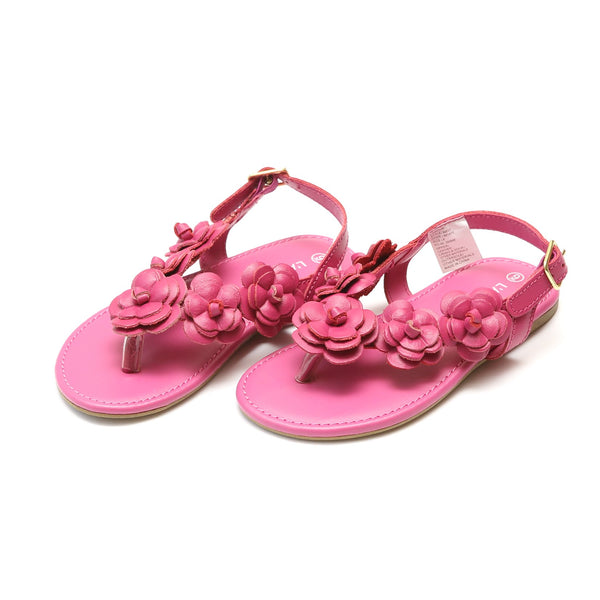 Flower Sandal with Back-Strap Shoes L'Amour - Oma's Classic Children's Clothing